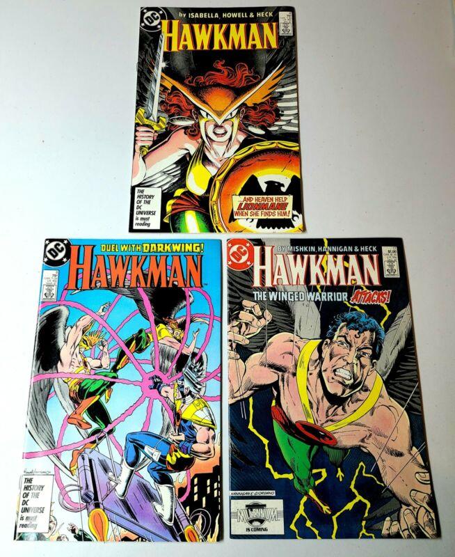 HAWKMAN DC Comics 6, 8,17 (1987) Hawkwoman vs Lionmane Darkwing (LOT OF 3)