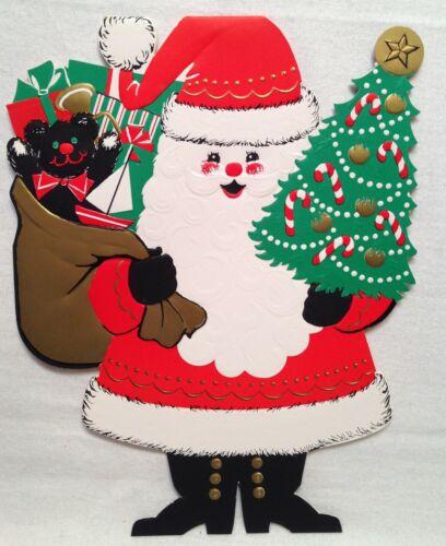 Wonderful Vintage Henri Fayette Christmas Salesman Sample Card Santa Tent-style