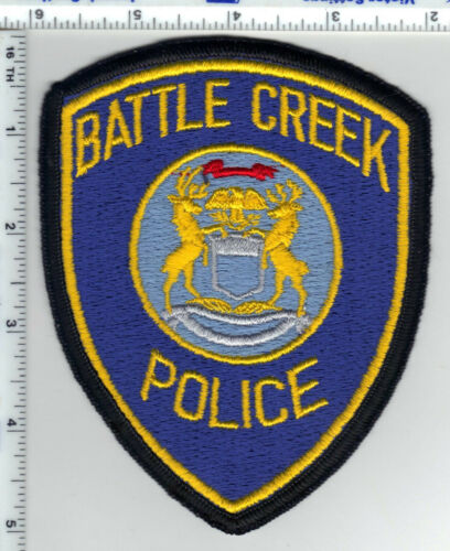 Battle Creek Police (Michigan) Uniform Take-Off Shoulder Patch from the 1980