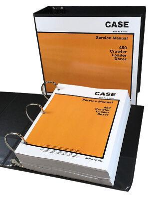 Case 450 Crawler Bulldozer Loader Dozer Service Repair Manual Shop Book 898pgs