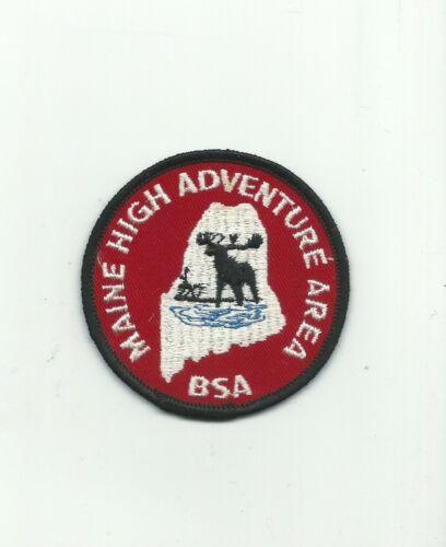 BI SCOUT BSA MAINE HIGH ADVENTURE AREA MOOSE POCKET PATCH GAUZE PB BASE CAMP !!!