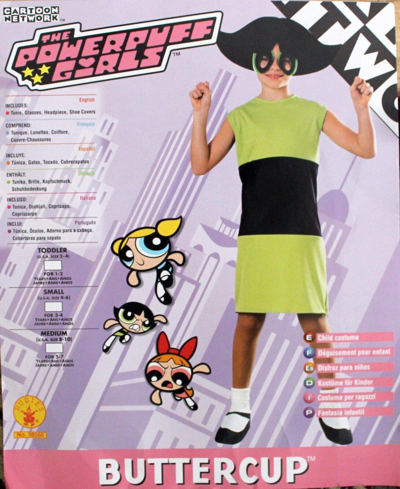 NEW POWERPUFF GIRLS Buttercup Halloween COSTUME US Size 8-10