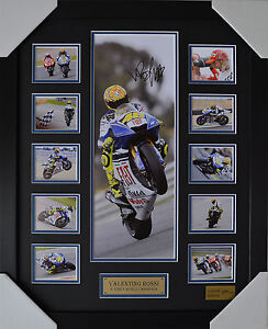 VALENTINO ROSSI SIGNED AND FRAMED LIMITED EDITION