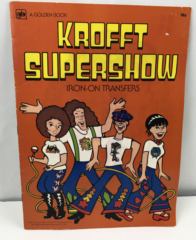 Vintage 1977 Krofft Supershow Iron On Transfers Full Book