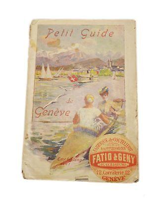 1930 Antiquarian Vintage Book Tour Petit Guide de Geneve Mont Blanc Swiss Canton](tour de mont blanc guide book)