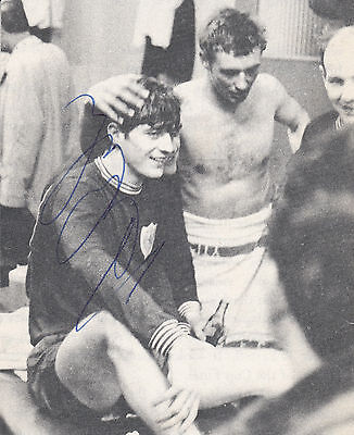 ALAN CLARKE HAND SIGNED VERY EARLY SMALL MAGAZINE PICTURE
