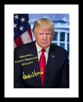 Signed Printed (Personalized Donald Trump 8x10 Signed Photo Official Print Autographed Your)
