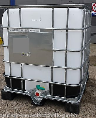IBC CONTAINER 1000 LITER Wassertank Regentonne  Tonne Tank Fass Lagertank