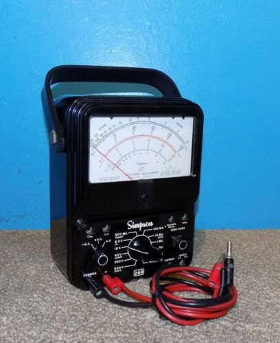 Simpson Model 260 Series 6 Analog Volt-Ohm Multimeter Working Free Shipping