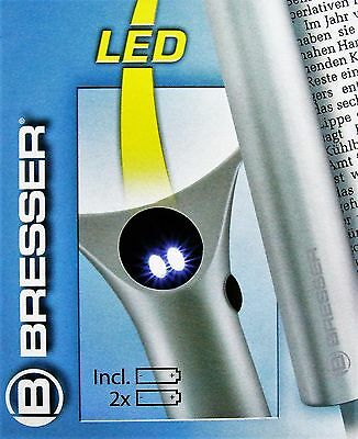 Bresser Lupe LED Licht 2,5x 4x fach Leselupe Lesehilfe Handlupe Juwelierlupe