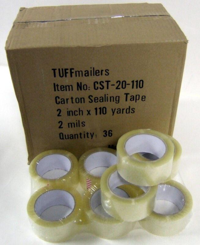"12 rolls Carton Sealing Clear Packing/Shipping/Box Tape- 2 Mil- 2"" x 110 Yards"