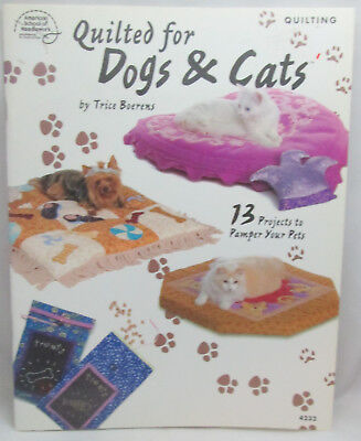 American School of Needlework Quilted For Dogs & Cats -13 Quilt Projects