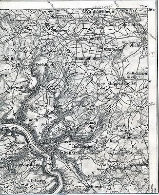 St. Goar Marienfels Bogel 1909 Teilkarte/Ln. Goarshausen Wellmich Bornich Prath