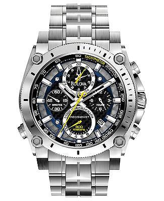 Bulova Precisionist Men's 96B175 Quartz Chronograph Black Dial 46mm Watch