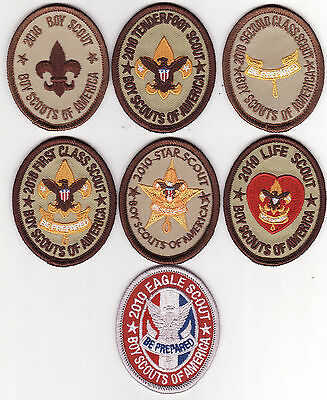 2010 RANK  PATCHES * 7 BOY SCOUT PATCHES