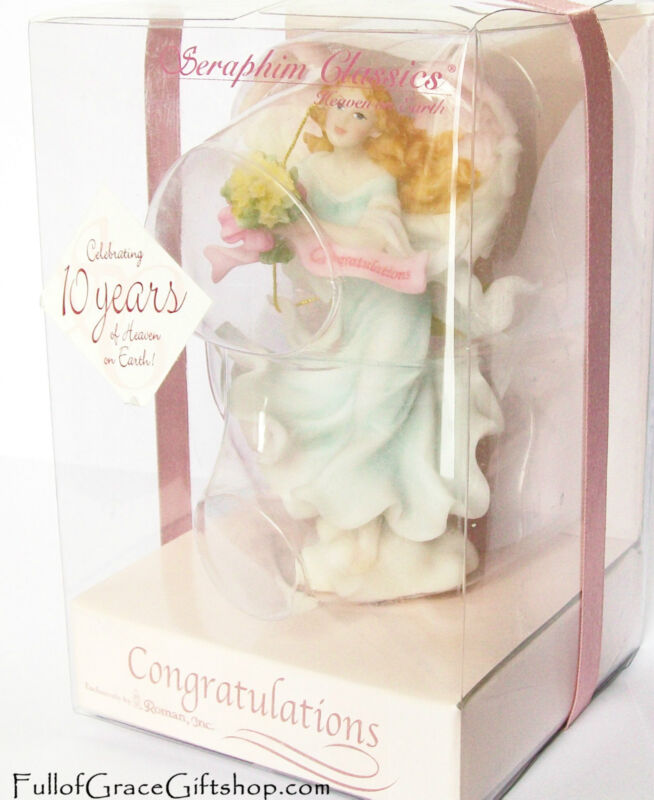 """Congratulations"" Angel Seraphim Angel Statue Sentiments RETIRED 81934 NIB"