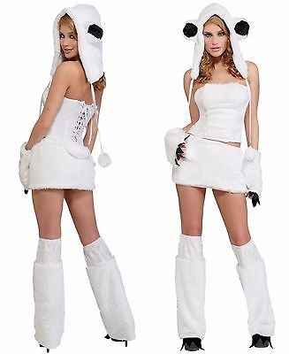 Polar Bear Halloween Costumes (SEXY FURRY POLAR BEAR HALLOWEEN COSTUME WOMEN'S SIZE XS / S 2 -)