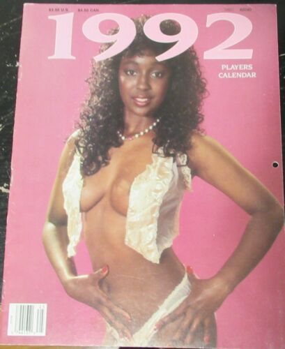 PLAYERS 1992 VINTAGE AFRICAN AMERICAN COLLECTABLE CALENDAR