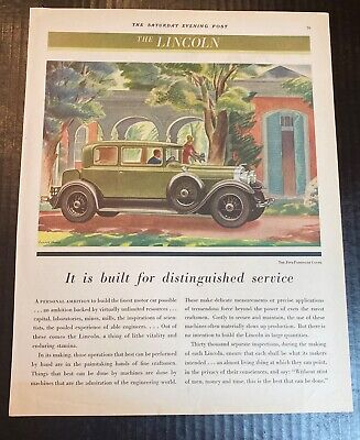 1930 Lincoln Five Passenger Coupe Women With Westie Dog Vintage Art Print Ad