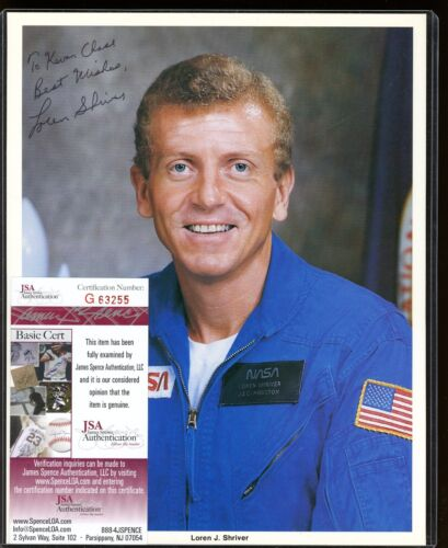 Loren J. Shriver Signed 8x10 Photo JSA COA Autograph AUTO
