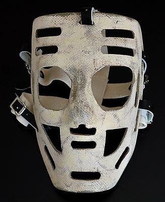 Vintage Style Fiberglass goalie mask replica Hank Bassen Lefty Wilson Penguins