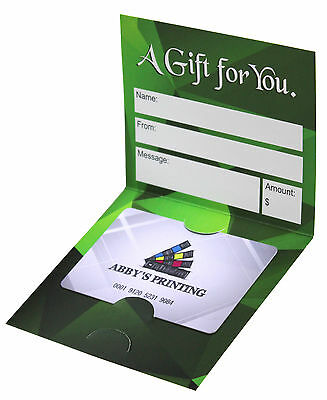 Lot of 100 Generic Custom Gift Card Holder for your customers Nicely printed