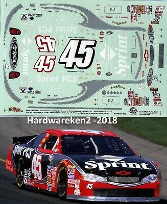 NASCAR DECAL #45 SPRINT PCS 2000 BGN MONTE CARLO ADAM PETTY SLIXX