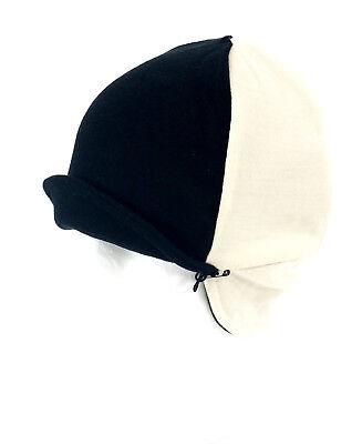 3e489887e33 Pace Sportswear Reversible Merino Wool Cap Beanie Eggshell Black