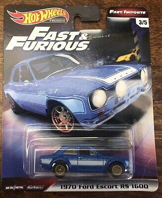Hot Wheels 1970 Ford Escort RS1600 Blue Fast & Furious *See Description