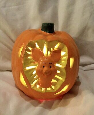 PAPER MAGIC 1999 LIGHT UP DISNEY PUMPKIN WINNIE THE POOHS PIGLET HALLOWEEN PROP
