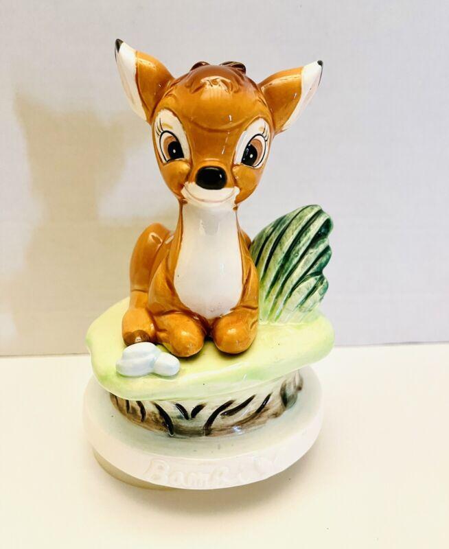 "VTG Disney Productions Bambi Musical Box Figurine ""Talk To The Animals"" Schmid"