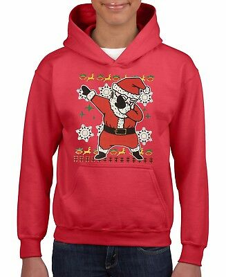 SANTA DABING KIDS HOODIE MERRY CHRISTMAS SANTA FUN ASSORTED COLORS SIZES S-XL
