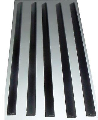 5 x A4 Slide Binders/Spine Bars 5mm x 297mm Black for Home, Office & Schools .