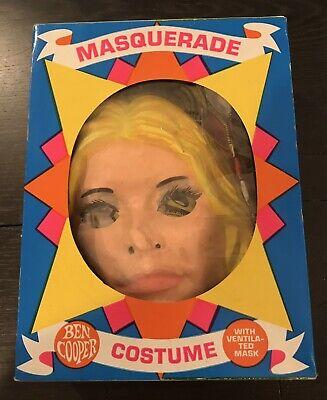 Vintage 1975 Ben Cooper Jamie Sommers Bionic Woman Halloween Costume w/ mask