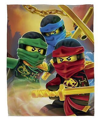 Lego Ninjago Ready Fleece Blanket Bed Throw Matches Bedding