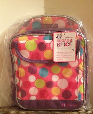 Stride Rite Sugar & Spice Back Pack & Lunch Tote Bag in Polka Dots