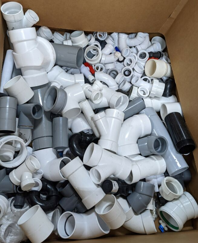 """25 Lbs Assorted Lot PVC Plumbing Fittings 1/2"""" - 4"""" Wholesale"""