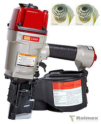 Industrie Coilnagler f. Coilnägel Druckluftnagler RGN CN90 50-90mm inkl. Nägel