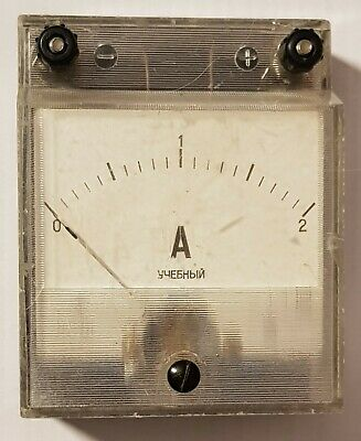 Vintage Ampere Meter Analog. Made In Ussr Russia. Old Style Tool.