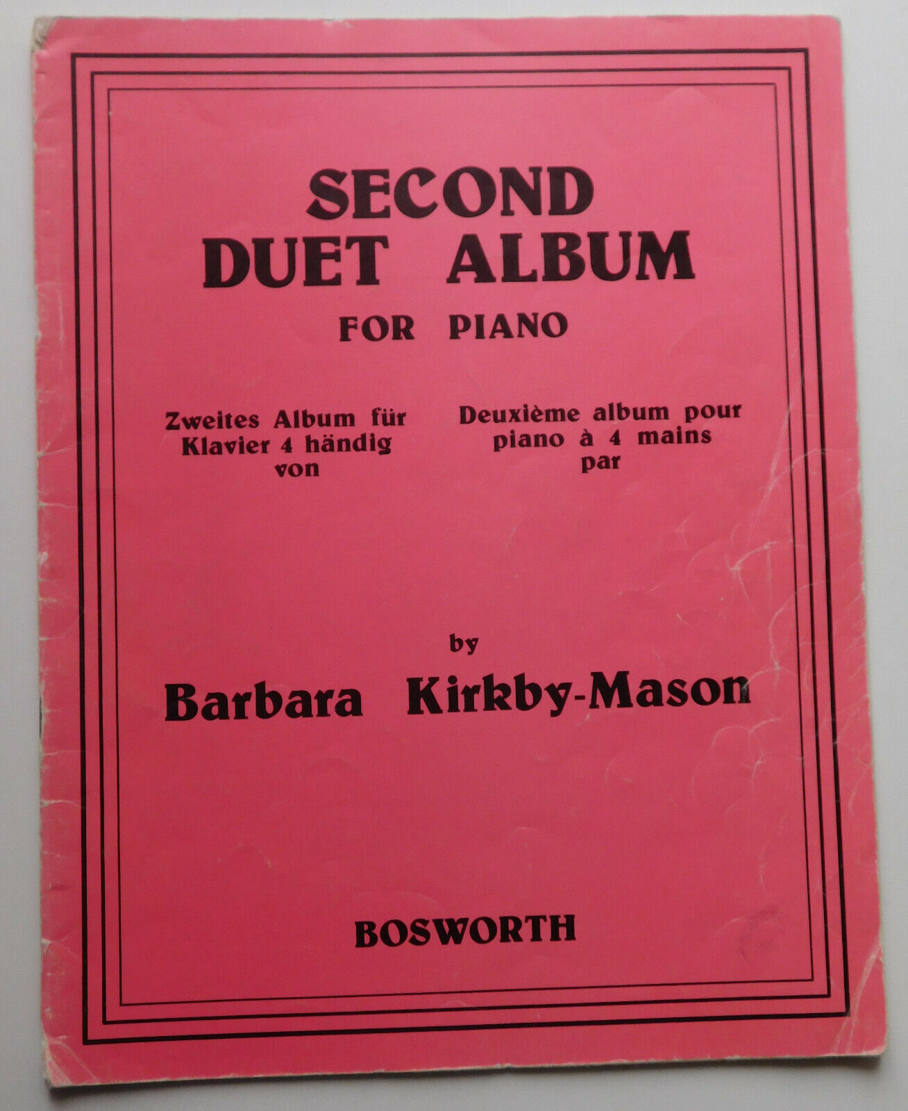 Piano Duets music book Second Duet Album Kirkby-Mason