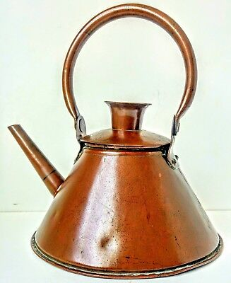 VINTAGE ARTS AND CRAFTS COPPER KETTLE, IN STYLE OF DR CHRISTOPHER DRESSER ,d@cEA