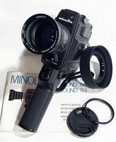 Minolta XL Sound 84 Super 8 Movie Camera, Fully Working Film Tested w/ Extras