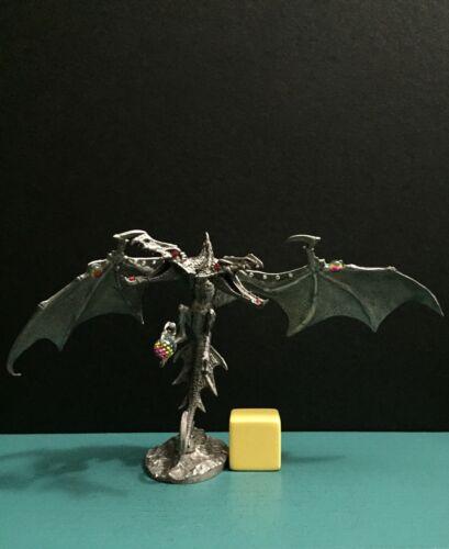 Rawcliffe Partha Pewter Giant Dual 2 Head Dragon Wyvern Jewel Gems Figurine AD&D