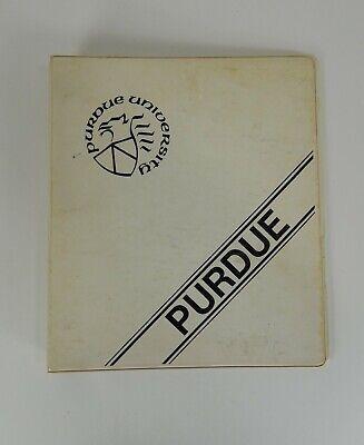 Vintage Purdue University 3 Ring College Binder White Blue 1