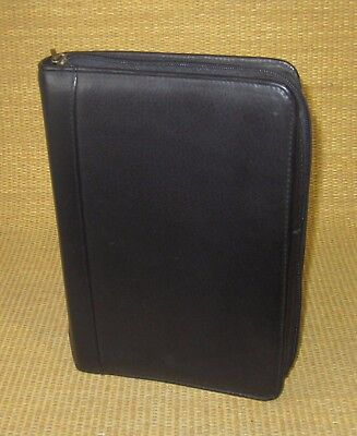 Classic 1.25 Rings Black Leather Boulder Ridge Zip Plannerbinder Franklin