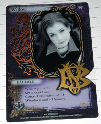 SINGLE CARD-TOP TRUMPS BUFFY THE VAMPIRE SLAYER-  WILLOW