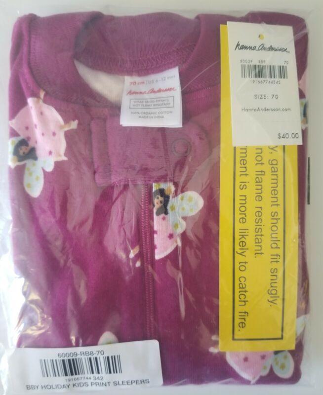 NWT Hanna Andersson Organic Sleeper Pajamas EU 70cm US 6-12 mo FAIRY PRINCESSES