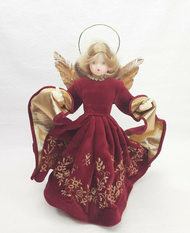 "Pauline Leidel Spreen Wax Angel Christmas Tree Topper 9 1/2"""