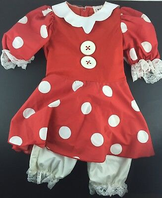 Vintage Minnie Mouse Dress Dance Halloween Costume made in USA size Child 4-6