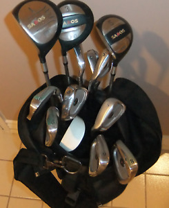 Full Set of Low End Golf Clubs and Bag (left hand)